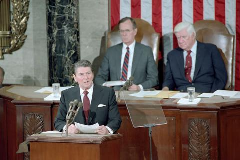 President Reagan Gives his Speech to Congress and the Nation on Central America in 1983